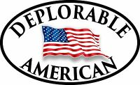 DEPLORABLE AMERICAN FLAG DECAL WINDOW BUMPER STICKER POLITICAL TRUMP