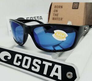 """COSTA DEL MAR black/blue mirror """"JOSE"""" POLARIZED 580P sunglasses NEW IN BOX!"""