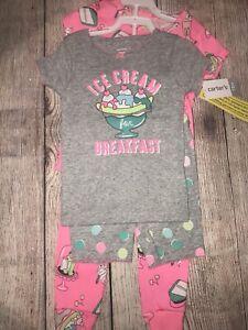 Carters 18 Months Ice Cream For Breakfast Pajamas Sleepwear New