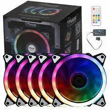 More details for 5pcs game eclipse max rgb 16.8 million colours led ring pc 12cm case fan