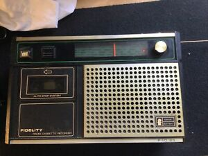 Vintage 1970s Fidelity RAD25 Radio Cassette Recorder SPARES & REPAIRS (CG18/185)