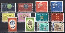 Europa CEPT Luxemburg 1960-1961-1962-1963-1964-1965 cat waarde € 6