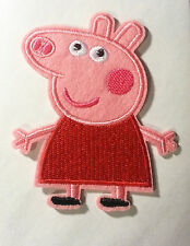 Peppa Pig Embroidered Iron On/Sew On Patch