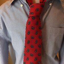 Robert Talbott Mens Silk Red Black Paisley Tie