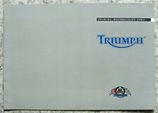 TRIUMPH TOURING MOTORCYCLES Sales Brochure 2002 #T3864628 TROPHY Tiger SPRINT ST