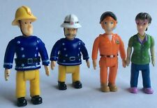 4x FIGURES - FIREMAN SAM/ STATION OFFICER STEELE/ DILYS PRICE/ TOM THOMAS - TOYS