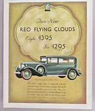 REO Flying Cloud Automobile PRINT AD - 1931 ~~ motor car, auto