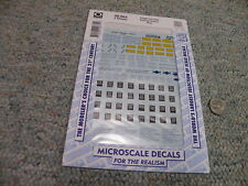 Microscale  decals O 48-664 Freight car data RR roman blue  2 sheets   F25