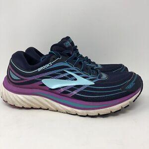 Women's Brooks 1202471B465 Blue/Purple Lace-up Athletic Sneakers Size 7.5 M