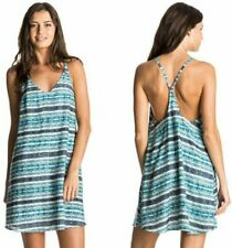 ROXY SOFT ADDICT STRAPPY SCOOP BACK DRESS (blue/ turquoise/blues)   S