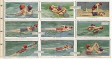 Life Guard Rescue Swimming Water Safety Pool Lot of 9 85+ Y/O Ad Trade Cards 7