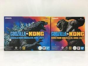NEW Bandai S.H.MonsterArts GODZILLA & KONG SET from GODZILLA VS. KONG 2021 Japan