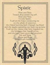 Spirit Evocation Parchment Page for Book of Shadows, Altar!