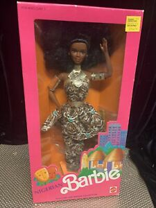 Barbie Dolls of the World Nigerian Barbie  #7376   1989  NRFB DOTW AA African