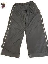New listing Men's Nike Athletic Running Pants Black Grey Stripes Size Large Workout