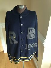RARE Vintage Ralph Lauren Sweater Cardigan Varsity Stadium RRL Jacket Men's XXL