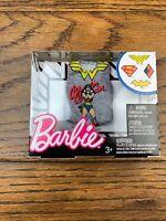 Barbie DC Comics Wonder Woman Grey Top Fashion Mattel