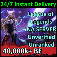 💎 League of Legends Unranked Account NA LOL Smurf 40k+ BE Level 30+ PC