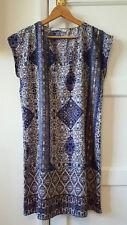 EMA BLUES Size 10 Boho Shift Dress Tunic Summer