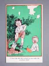R&L Postcard: Comic, Fred Spurgin Inter Art Kidaoo, Crying Baby Gooseberry Bush