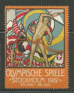 Sweden/Stockholm 1912 Olympic Games poster stamp/label (German text)