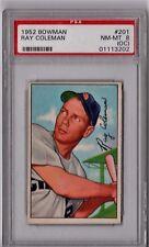 1952 Bowman Ray Coleman #201 PSA 8 (OC) P582