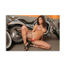 Z • 304 HARLEY DAVIDSON LOCKER MAGNET CUTE GIRL MINI POSTER OTHER COLLECTIBLE