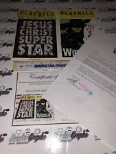 JESUS CHRIST SUPERSTAR WICKED CAST SIGNED AUTOGRAPHED PLAYBILLS-LETTER COA