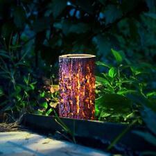 Solar LED Wood Stump Light Outdoor Waterproof Garden Yard Lawn Decorative Lamp