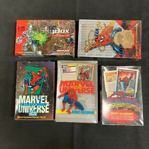 Marvel Universe 1990 1991 1992 1993 1994 Boxes Sealed - One of Each Impel Skybox