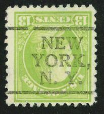"EFO 513 INVERTED BUREAU PRECANCEL  ""NEW YORK N.Y."""