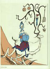 "Dr. Seuss Traveler. Reproduction Cartoon Print from ""On Beyond Zebra!"""