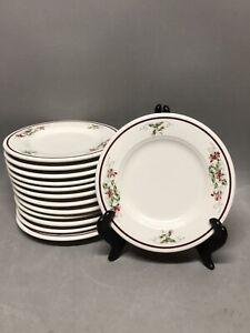 "Vtg Homer Laughlin Seville Restaurant HHA Stoneware Pink Violet Pattern 6"" Plate"