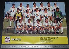 CLIPPING POSTER FOOTBALL 1985-1986 BREST ARMORIQUE FRANCIS-LE BLE BREIZH 29