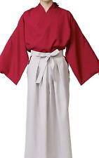 Japanese Men's Kimono Samurai Bushi Rurouni Kenshin costume Jacket Hakama Set
