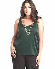 $148 BNWT EILEEN FISHER Stretch Silk Charmeuse LTBLS LIGHT BALSAM Shell Top S