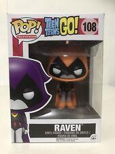 Funko Pop Vinyl Teen Titans Raven Orange #108 FAST AND FREE!!!