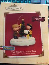 """Hallmark Keepsake Peanuts """" The Amazing Little Tree"""" Ornament Dated 2003"""