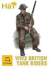 HAT 8264 1/72 WWII British Tank Riders 44 Unpainted Plastic Figures FREE SHIP