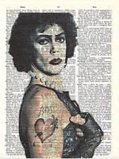 Art N Wordz Dr. Frank N. Furter Original Dictionary Page Wall/Desk PopArt Print