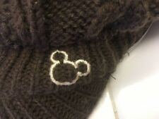 MICKEY MOUSE Brown Knit Driving Newsboy Gatsby Cap RARE RN 54976 FREE SHIPPING