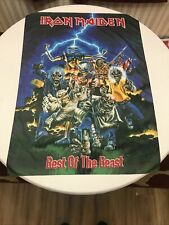 """Vintage IRON MAIDEN Best of the Beast BANNER Tapestry 1996 Poster Flag 30""""X41"""""""