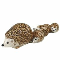 Goebel Hedgehogs Family Figurine Hand Painted Porcelain W Germany Vtg 35 502-03