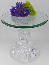 HSTUDIO Shlomi Haziza Roxie Acrylic End Table Pedestal  Lexan Lucite Signed
