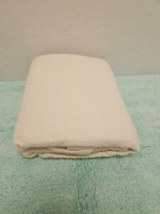 POTTERY BARN MODERN BABY ORGANIC PEARCE TODDLER COVERLET ONE SIZE 36 X 50 BEIGE