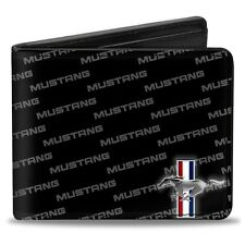 Leather style PU Ford Mustang logo billfold wallet - great gift!