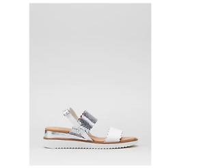 Moda in Pelle Navello Sandal Silver/White Size 6/39 Brand New Not Boxed