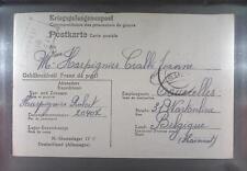 Camp Stalag IVC Wistritz 1943 POW Prisoner Belgium Kriegsgefangenenpost K105a