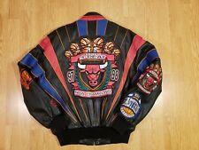 Chicago Bulls Jacket Vintage Jeff Hamilton 3 Peat Championship Mens Size S