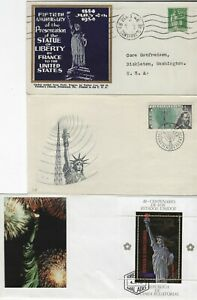 WORLDWIDE - STATUE OF LIBERTY FIRST DAY COVERS FDC